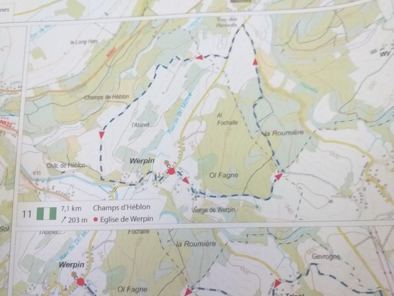 Wandeling n° 11 : Champs d'Heblon