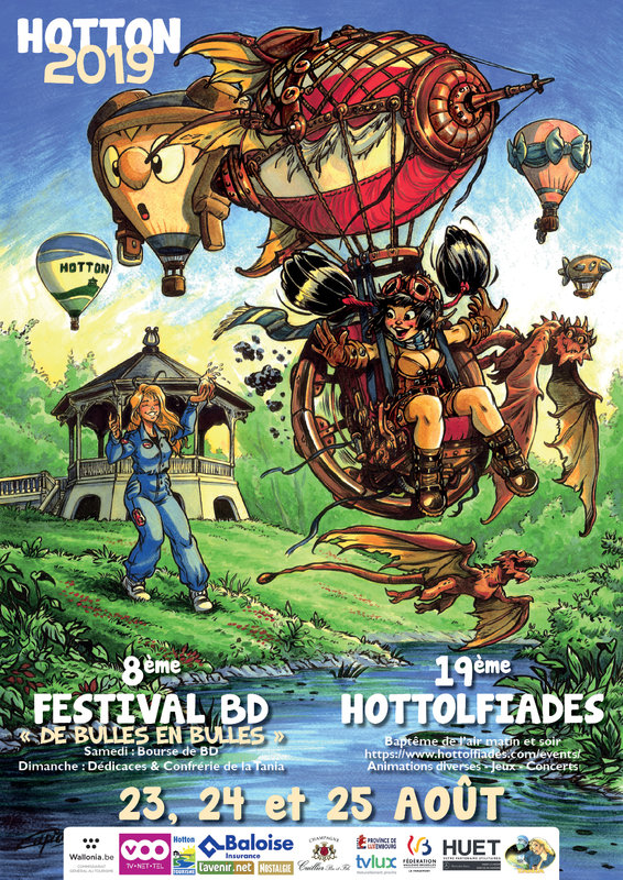 "Weekend august 22-23 - Comics books festival ""de bulles en bulles"""
